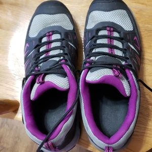 Keen Gray and purple tennis shoes